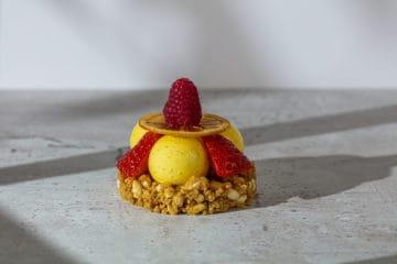 Cheesecake Mousse på puffad digestivebotten